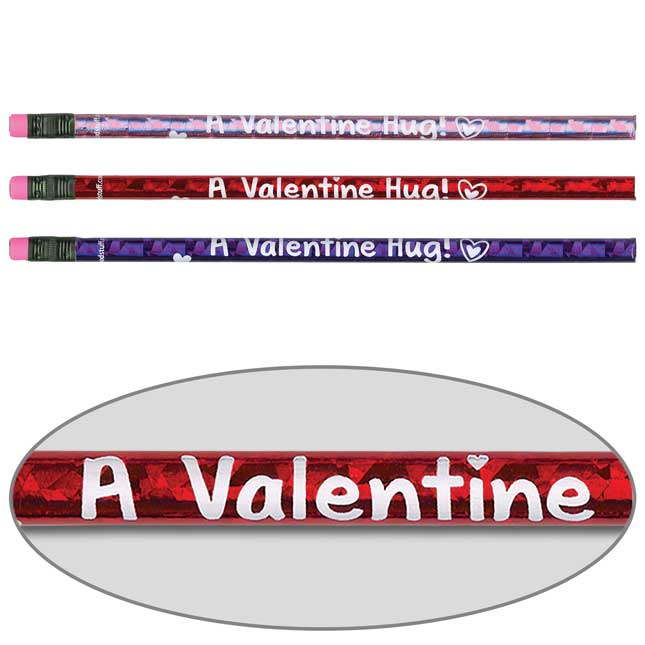 Valentine Hug From Your Teacher Pencils And Erasers