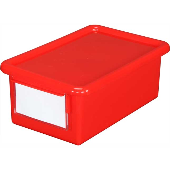 Medium Easy-Label Bins With Lids, 6-Pack