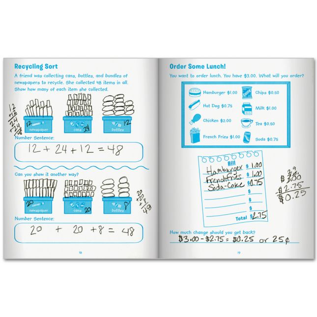 Family Engagement Math - Practice, Solve and Play Pack - Third Grade