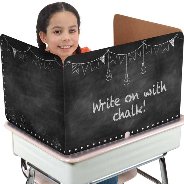 Large Privacy Shields - Set of 12 - Chalk Board