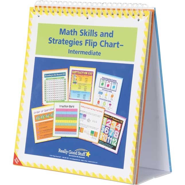 Math Skills And Strategies Flip Chart - Intermediate