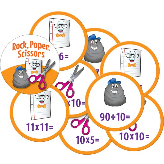 Rock, Paper, Scissors Math Game - Multiplication And Division