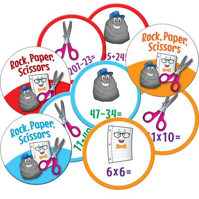 Rock, Paper, Scissors Math Games - Intermediate Set