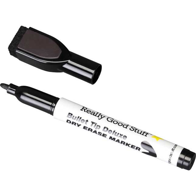 Black Bullet Tip Deluxe Dry Erase Markers