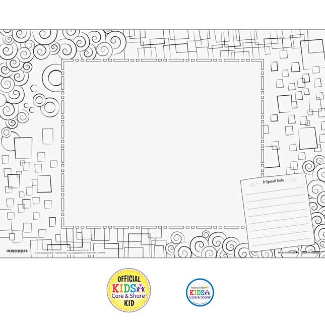 Kids Care and Share™ Ready-To-Decorate® Place Mats Kit