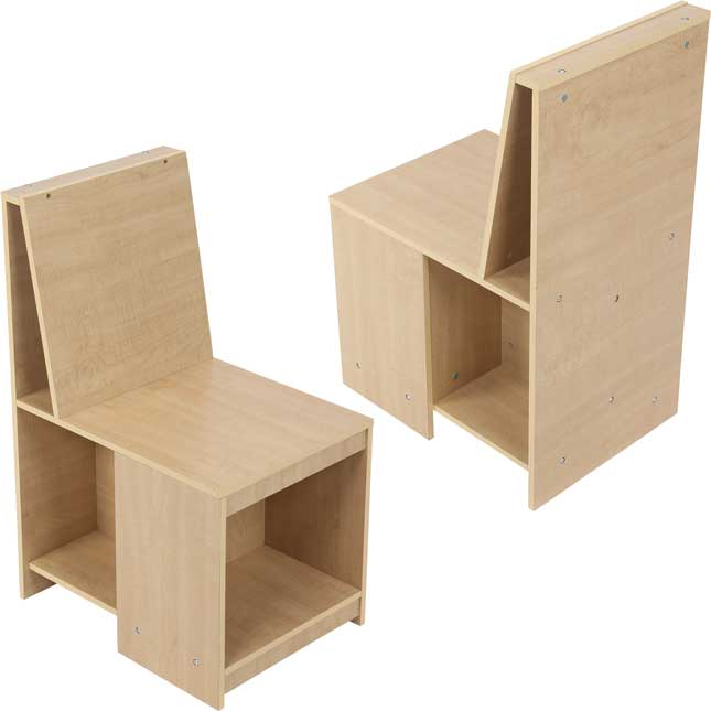 Sit and Store Chair Pair