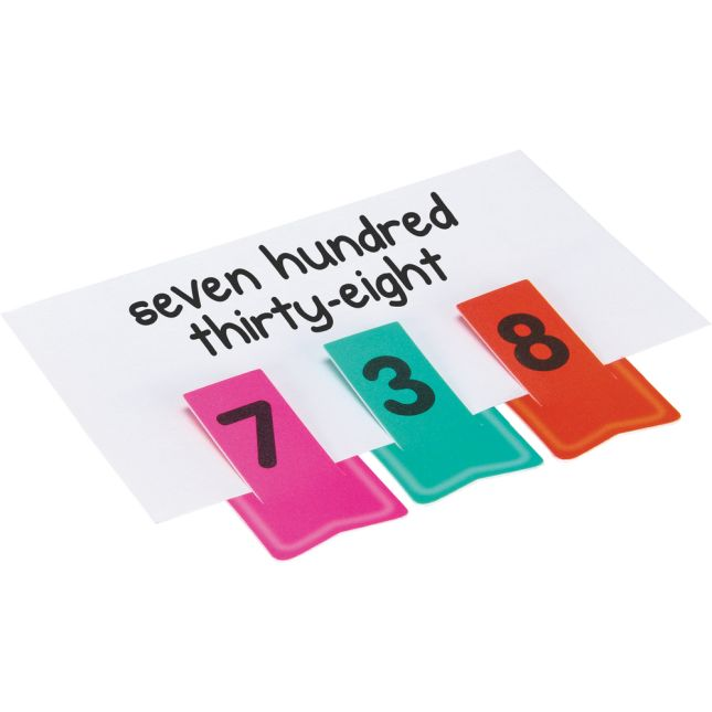 Place Value Activity Cards And Number Clips Kit - 81 cards, 30 clips