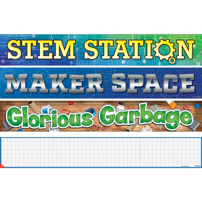 Classroom Banner Signage - STEM - 2 double-sided banners