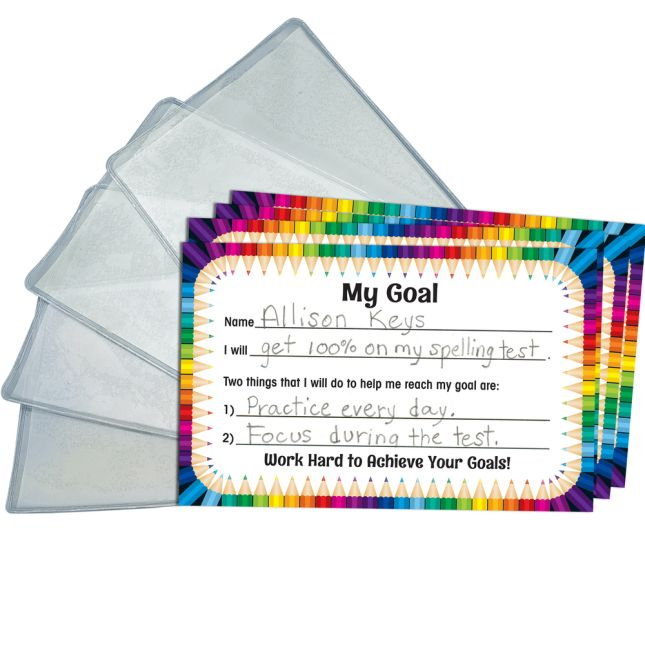 Personal Goal Tickets With Vinyl Press-On Sleeves