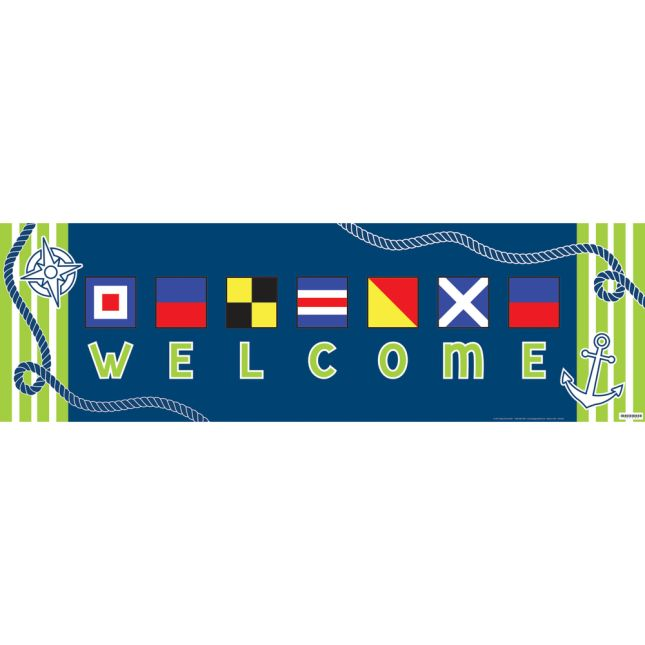 Nautical Welcome Banner