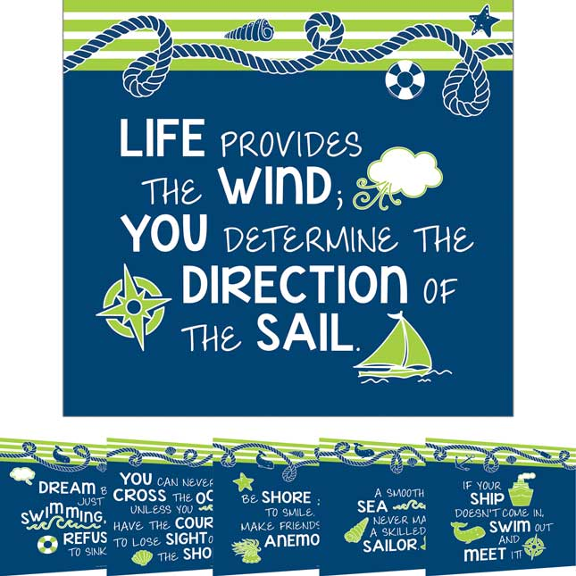 Nautical Mini Posters Set