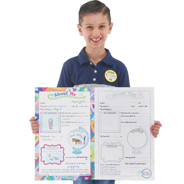 Kids Care and Share™ Ready-To-Decorate® About Us Pen Pal Posters Kit