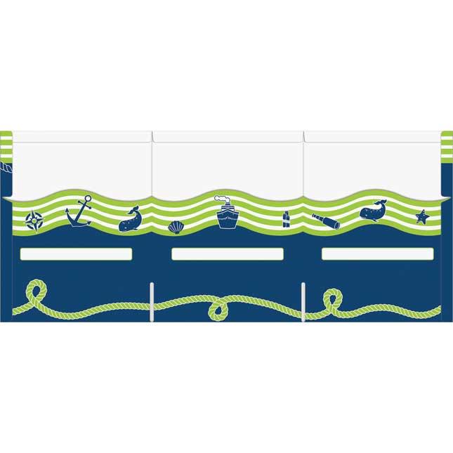 Tri-Fold 3-Pocket Nautical Folders