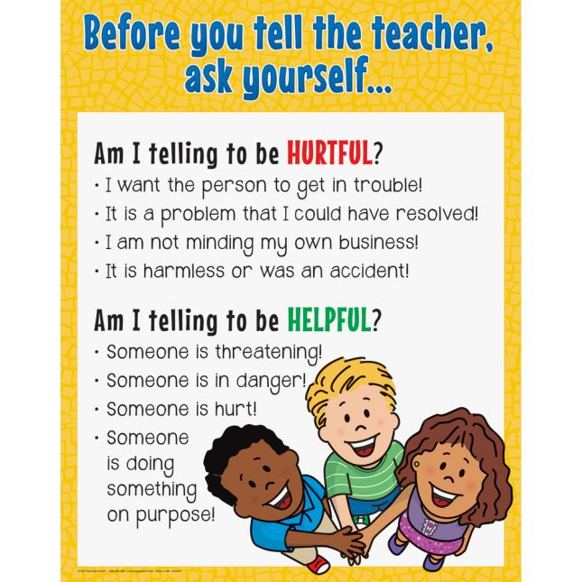 Before You Tell The Teacher Poster - 1 poster