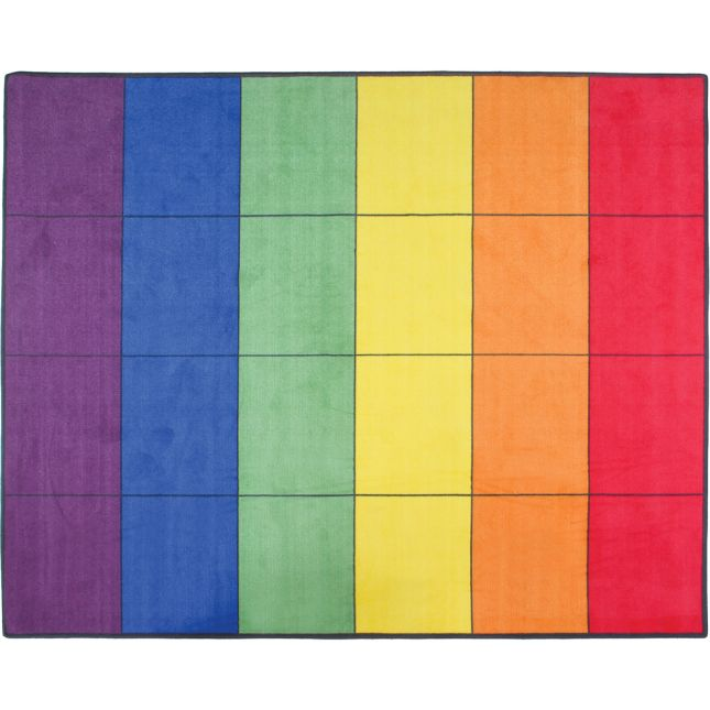 "7' 6"" Group-Colors Rug - 6 Colors - 24 Squares"