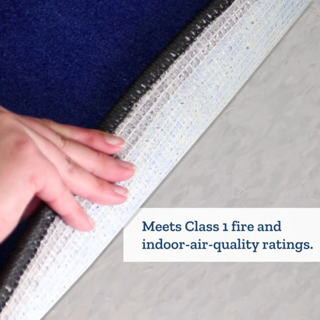 """7' 6"""" Group-Colors Rug - 6 Colors - 24 Squares"""