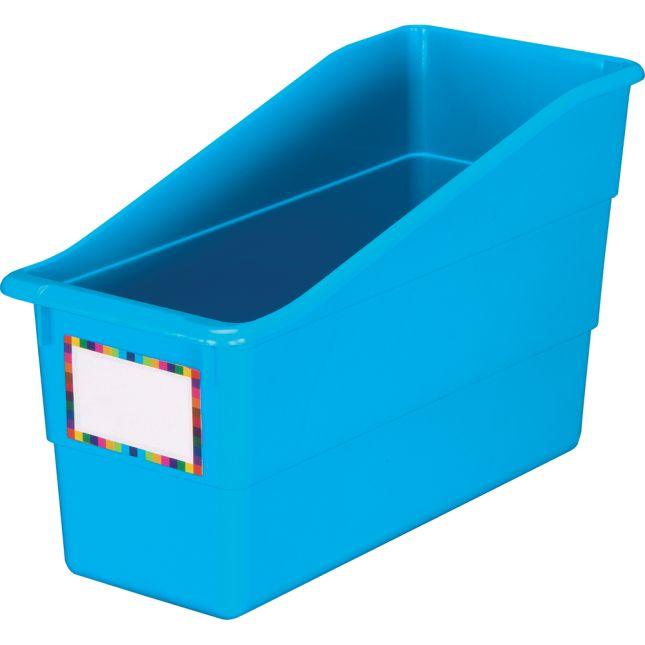 Blue Neon Durable Book and Binder Holder - Single 1 bin