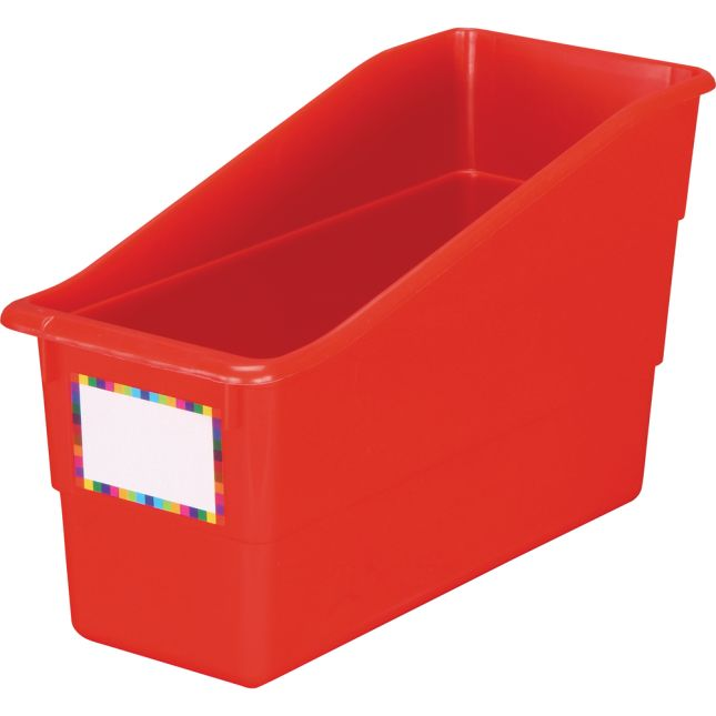 Red Durable Book and Binder Holder - Single 1 bin