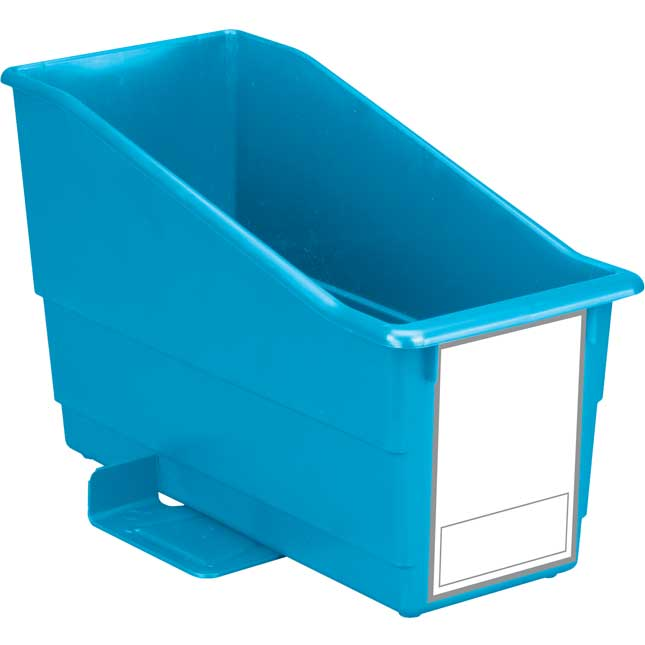 Durable Book  Binder Holder With Stabilizer Wings  Large Label  Single Bin
