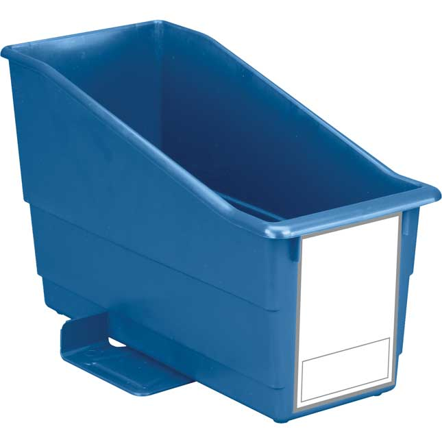 Durable Book & Binder Holder With Stabilizer Wings & Large Label - Single Bin