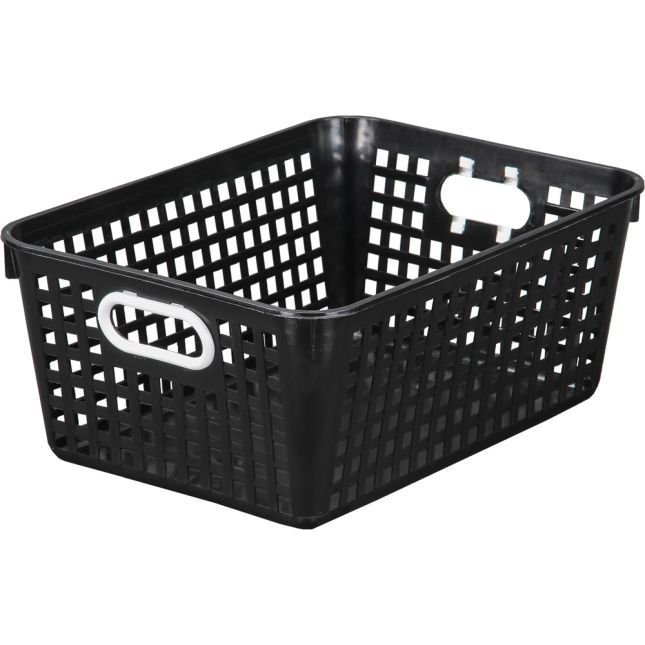 """Large Plastic Desktop Storage Baskets, 13¼"""" by 10"""" by 5½"""" Single Basket – Available in 7 DifferentColors – Great For Your Home Storage or Classroom Needs_0"""