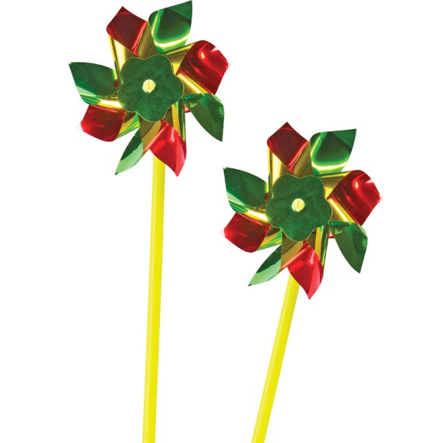 Happy Birthday! Cards With Pinwheels - 12 cards and pinwheels