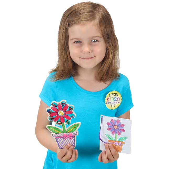 Kids Care and Share™ Flower Table Toppers Kit