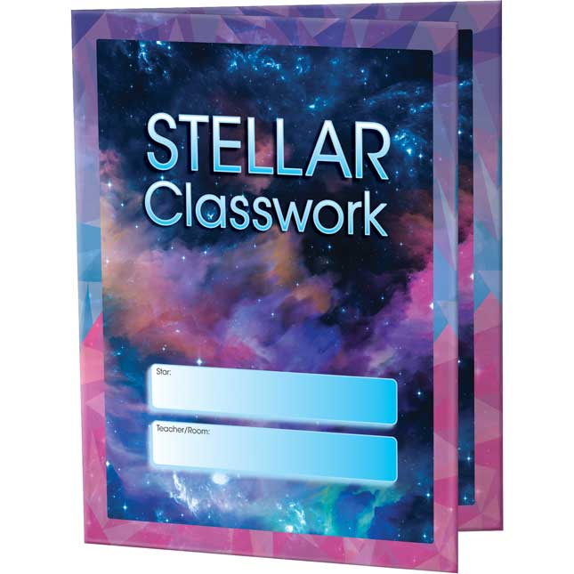 Galaxy Classwork Folders - 3 Pocket - 12 Pack