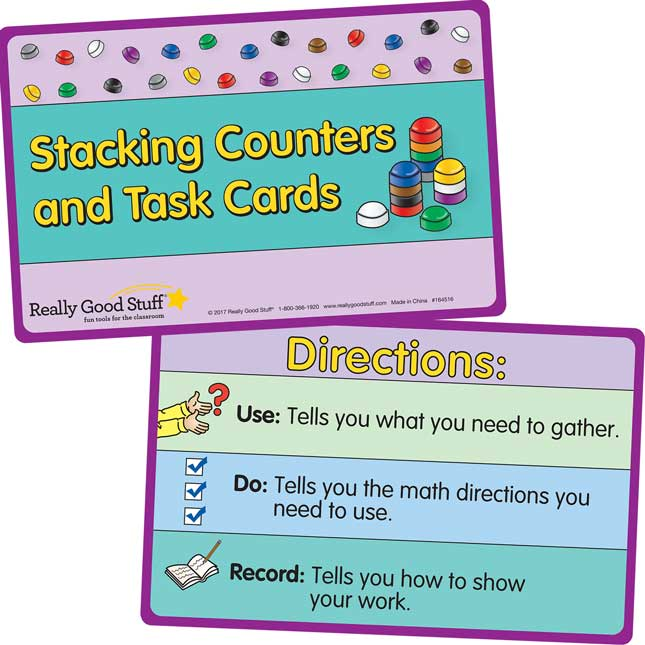 Stacking Counters And Task Cards Kit