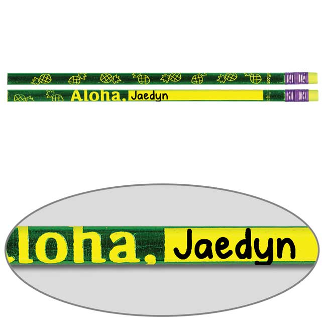 Cool-To-The-Core Customizable Aloha Pencils
