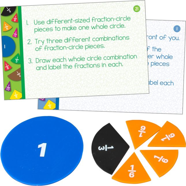 Fraction Circles And Task Cards Kit