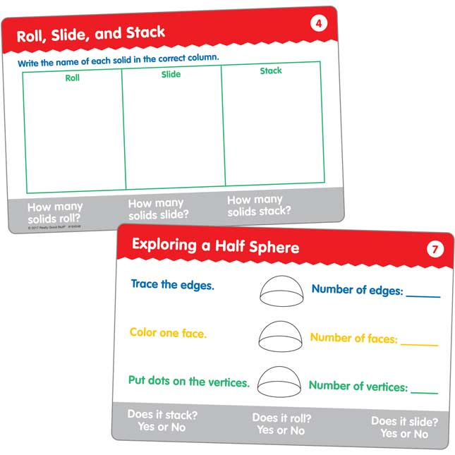 Geometric Solids And Task Cards Kit - 40 solids, 22 cards