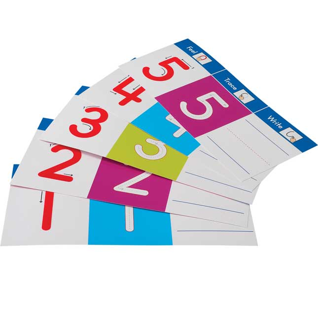Feel, Trace and Write™ Numbers Cards