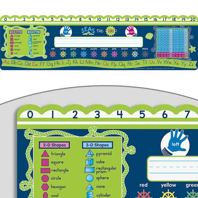 Nautical Self-Adhesive Deluxe Plastic Desktop Helpers™