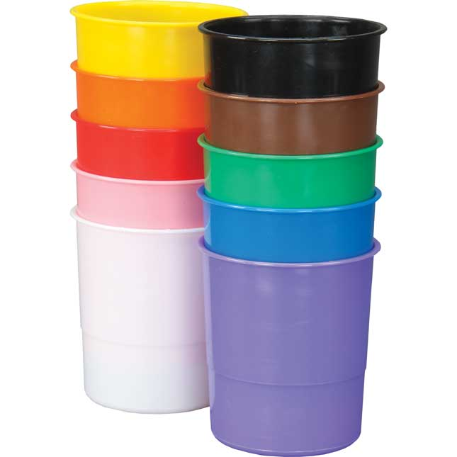 Ten-Color Plastic Cups - 10 cups