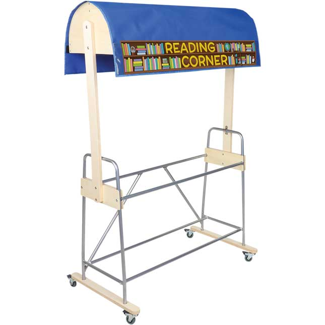 Mobile Storage Rack With Reading Canopy