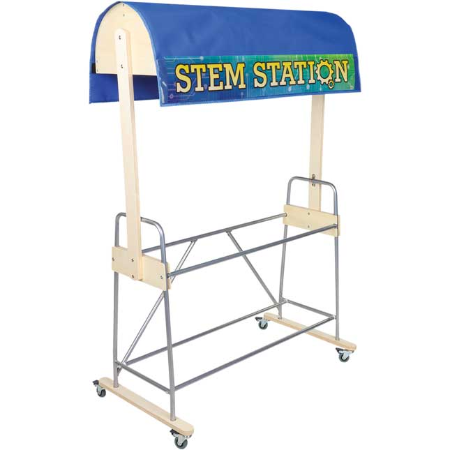 Mobile Storage Rack With STEM Canopy