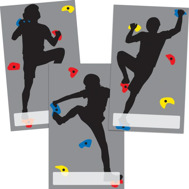 Climbing To New Heights Pocket Chart Cards Refill - 42 cards