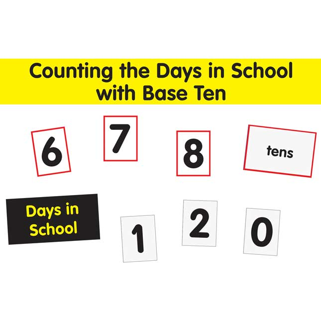 29971dc5f Counting The Days With Base Ten Pocket Chart™ Cards Refill | Artwork |  Amount | Grade | Finish | Size | Color | Really Good Stuff