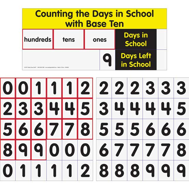 Counting The Days With Base Ten Pocket Chart™ Cards Refill