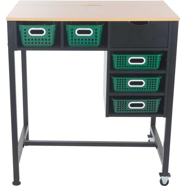 Standing Workstation With Single-Color Baskets - 1 station, 5 baskets