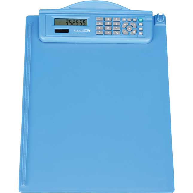 Classroom Clipboard With Calculator - 1 clipboard
