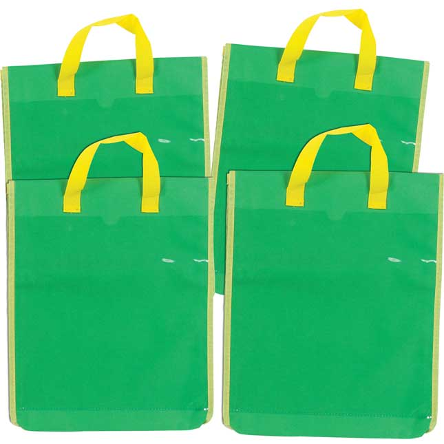 Store More Large Book Pouches With Paper Pocket  Single Color Set Of 4
