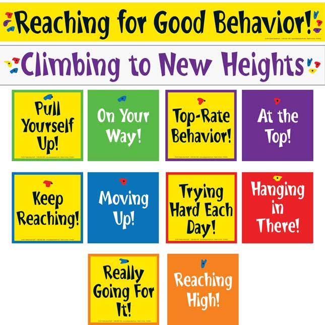 Climbing To New Heights Pocket Chart - 1 pocket chart, 42 cards