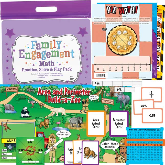 Family Engagement Math - Practice, Solve and Play Pack - Fifth Grade