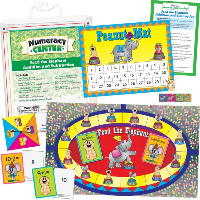 Feed The Elephant Addition And Subtraction Numeracy Center™ - 1 numeracy center