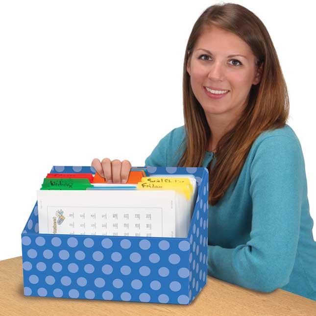 Teacher File Organizers - 4 Colors