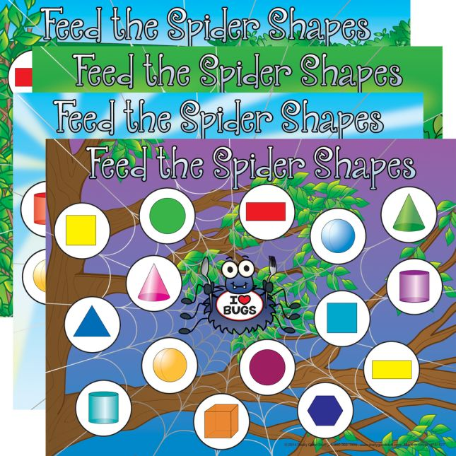 Feed The Spider - Shapes Match Numeracy Center™ - 1 numeracy center