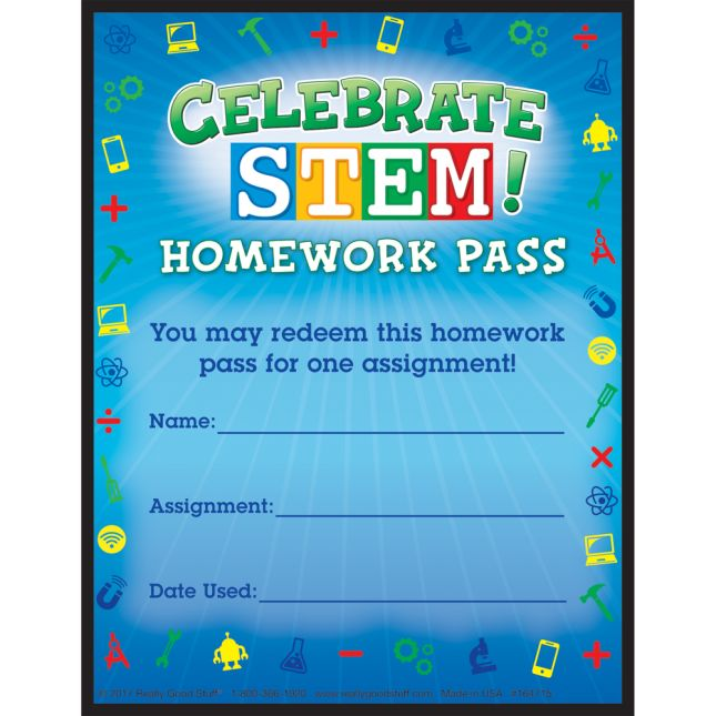 Celebrate STEM! Homework Passes