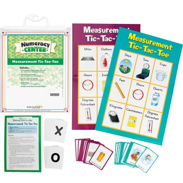 Measurement Tic-Tac-Toe Numeracy Center™ - 1 numeracy center